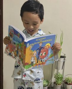 kids with books health superheroes (2)