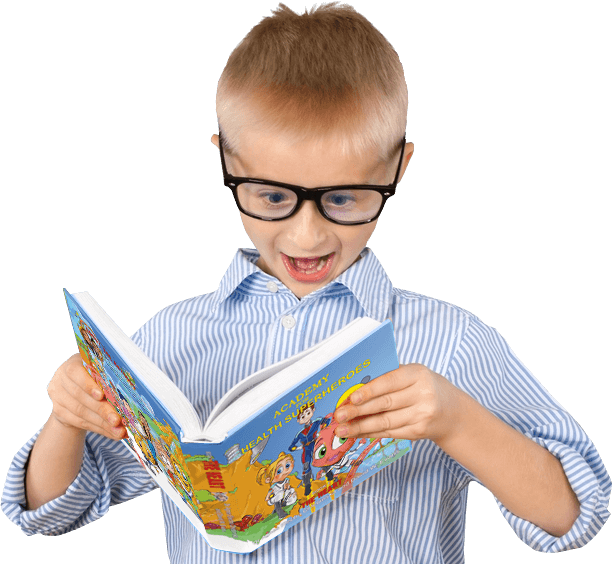 Kid Reading Academy for Health Superheroes Book