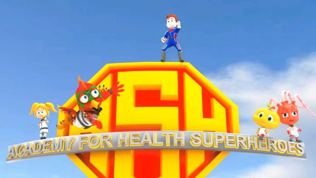 Academy for Health Superheroes 3D Animation Trailer